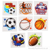 Sports Theme Novelty Temporary Transfer Tattoos
